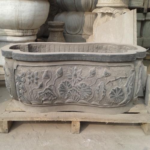 石刻雕花青石水槽