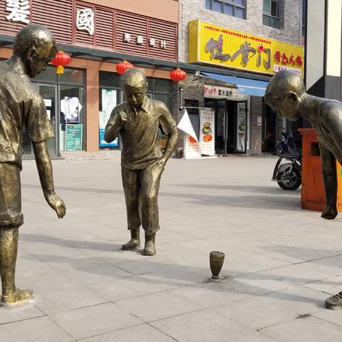 广场人物雕塑