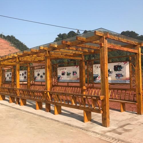 自贡木质休闲长廊
